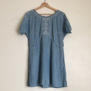 Holding Horses Chambray Dress (xs)
